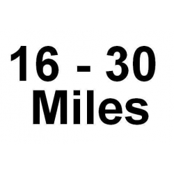 16 - 30 Miles Delivery